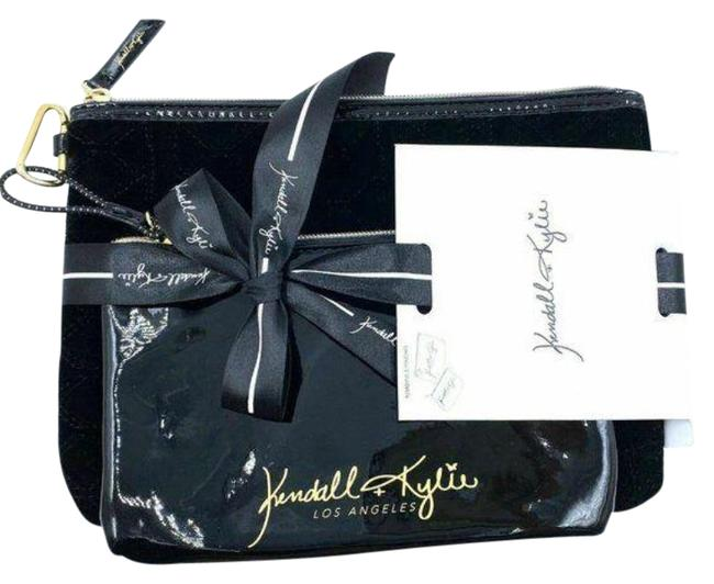 Item - Velvet Cosmetic Bags Black Patent Leather Clutch