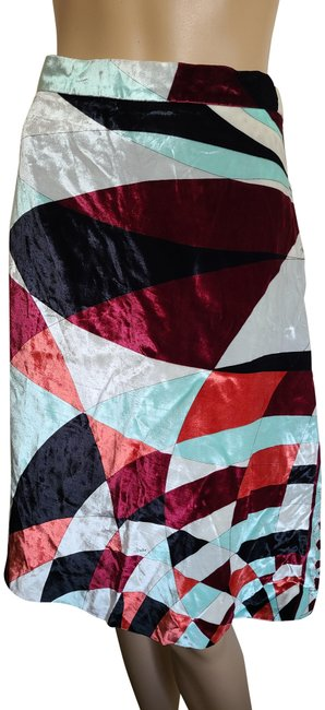 Item - Red White Multicolor Printed Logo Skirt Size 6 (S, 28)