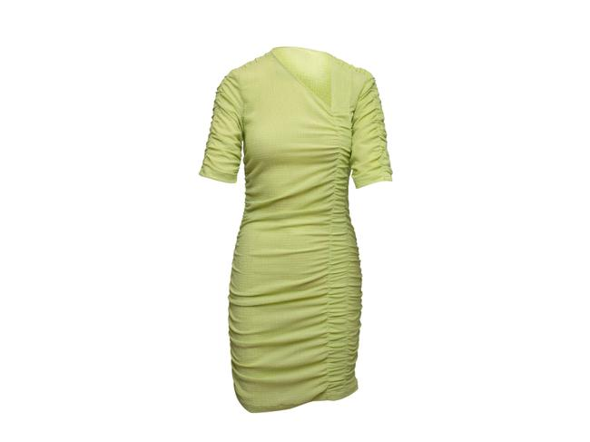Item - Light Green Ruched Bodycon Short Casual Dress Size 8 (M)