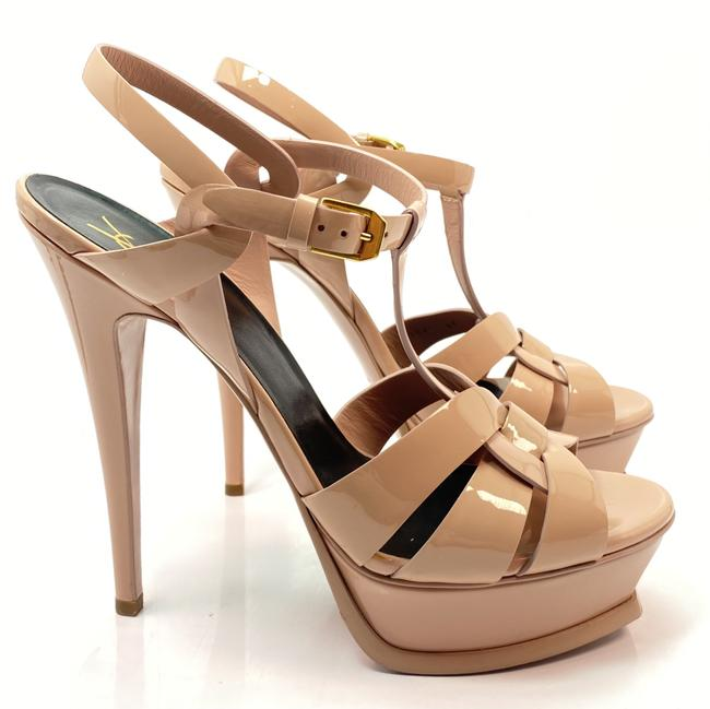 Item - Poudre Nude Tribute Ysl Yves Patent Pumps Sandals Size EU 40 (Approx. US 10) Regular (M, B)