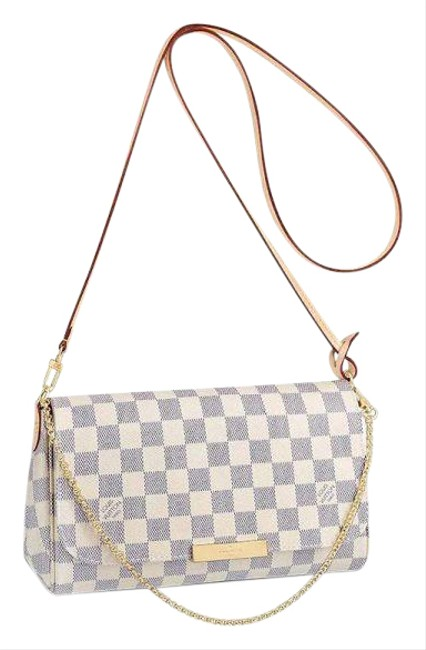 Item - Favorite Discontinued New Mm Azur White Canvas Cross Body Bag