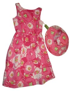 Lilly Pulitzer short dress Pink floral on Tradesy