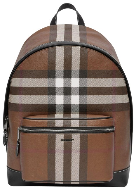 Item - Check E Canvas Tan Backpack