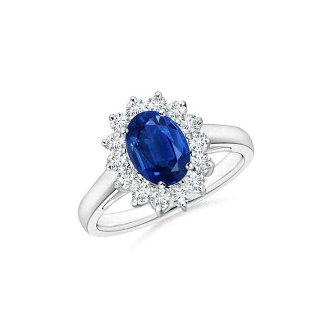 Item - 14k White Gold 1.90ct Ladies Blue Sapphire In Ring