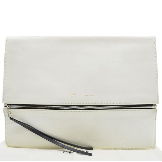 Item - Silver Second Ladies Black / White Leather Clutch