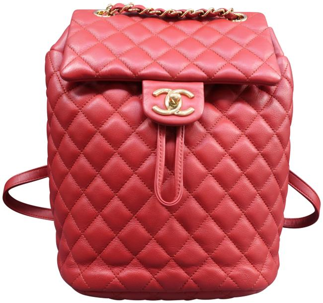 Item - Urban Spirit Small Red Lambskin Leather Backpack