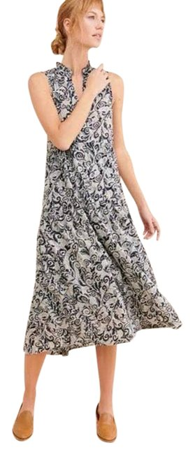Item - Blue Maeve Marya V-neck Abstract Paisley Tiered Long Casual Maxi Dress Size 2 (XS)