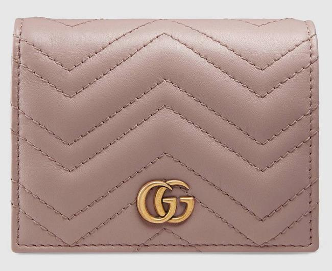 Item - Marmont New Mini Quilted Wallet Card Holder Dusty Pink Matelassé Chevron Leather Clutch