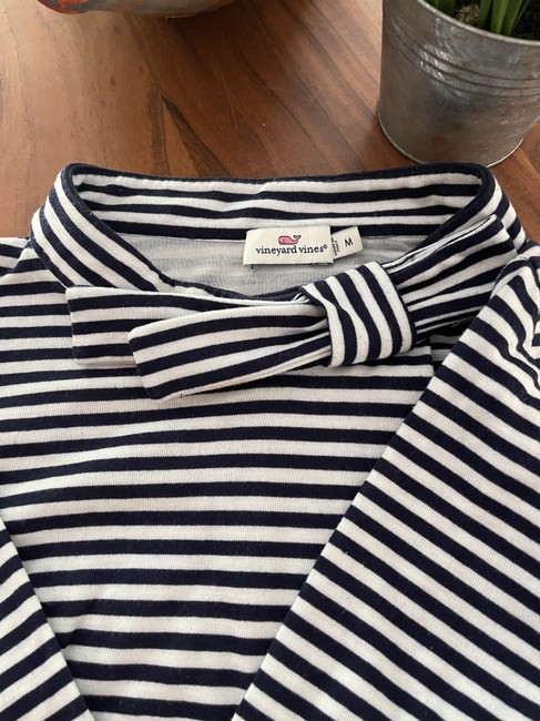 Item - Navy and White Nautical Short Casual Dress Size 8 (M)