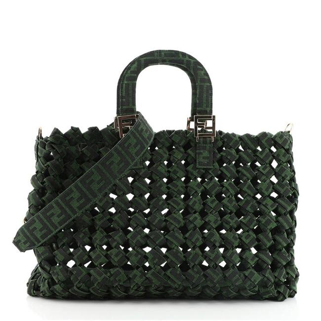 Item - Forever 1974 Zucca Large Green Jacquard Tote