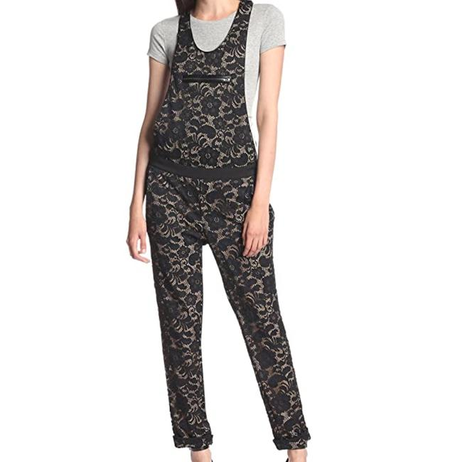 Item - Black XS Lace Overall Womens Msrp Romper/Jumpsuit