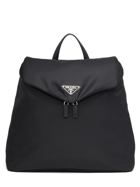 Item - Black Re-nylon and Leather Backpack