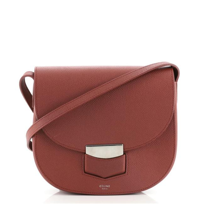 Item - Trotteur Grainy Small Red Leather Cross Body Bag