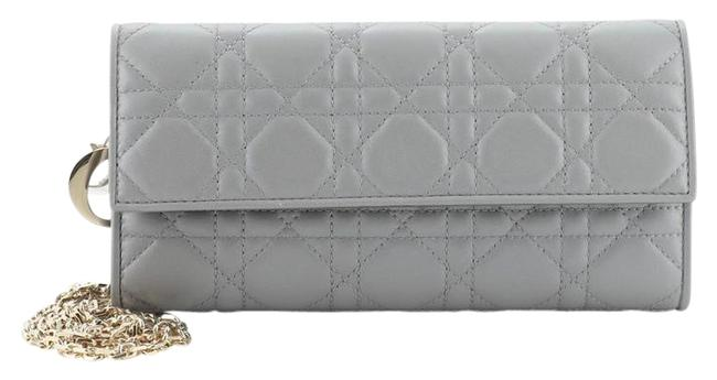 Item - Ady Croisiere Chain Wallet Cannage Quilt Lambskin Gray Leather Cross Body Bag