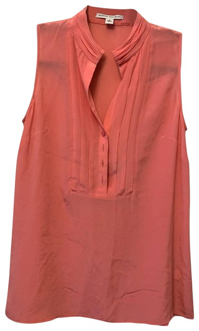 Item - Pink Coral Silk Blouse Size 2 (XS)