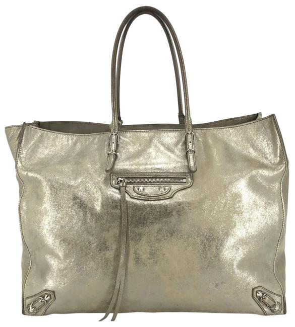 Item - Metallic Milky Way Papier #36145 Gold Suede Leather Tote