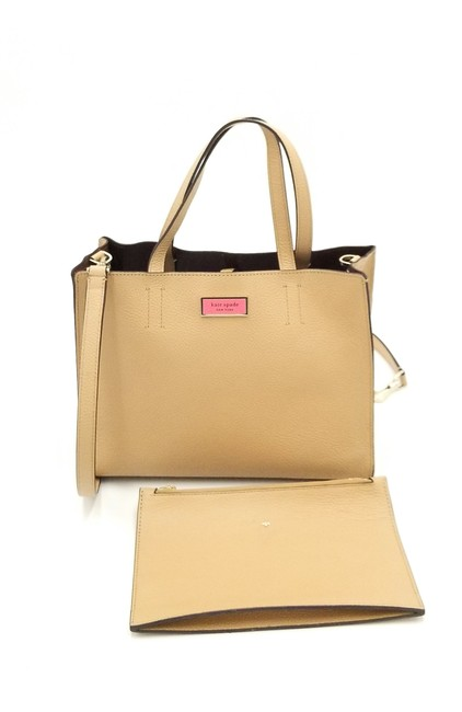 Item - Sam with Matching Pouch Beige Leather Clutch