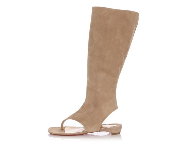 Item - Beige Suede From Sand Flat Thong Tall Boots/Booties Size EU 40 (Approx. US 10) Regular (M, B)