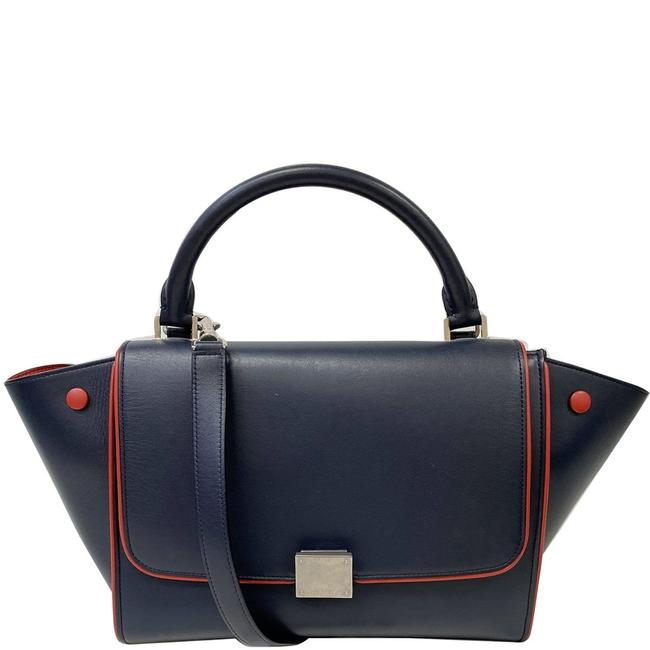 Item - Trapeze Small 2way Tote Blue Leather Shoulder Bag