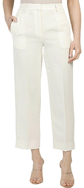 Item - Cream High-waisted Ivory Straight Crepe Pants Size 2 (XS, 26)