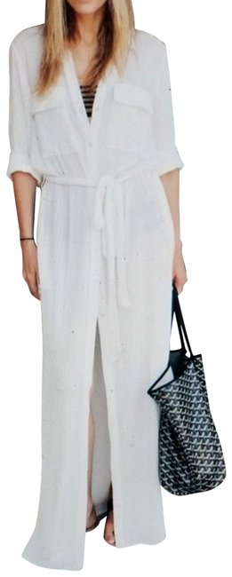 Item - White Long Casual Maxi Dress Size 4 (S)