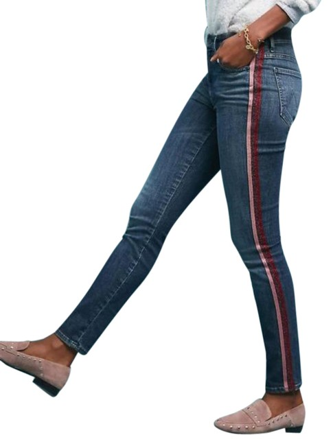Item - Blue Pink High Waisted Looker In Here Kitty Kitty Glitter Skinny Jeans Size 25 (2, XS)