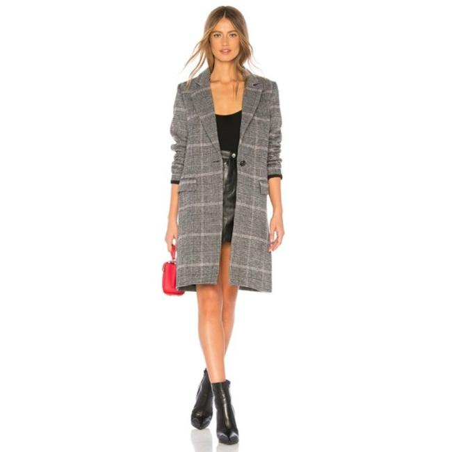 Item - Black Pink Anders In Charcoal Plaid Coat Size 4 (S)