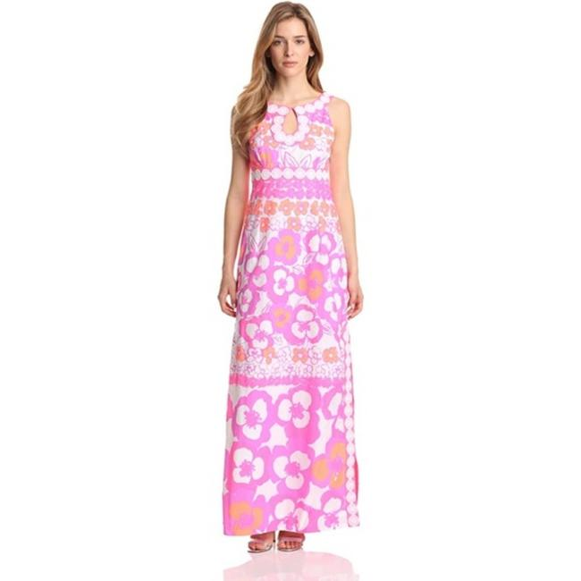 Item - Pink White Didi In Pansy Dance Multi Long Casual Maxi Dress Size 6 (S)