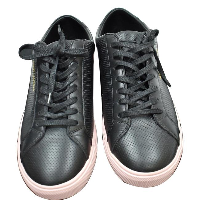 Item - Yves Court Classic Perforated Leather Sneakers Black Formal Shoes Size EU 39 (Approx. US 9) Regular (M, B)