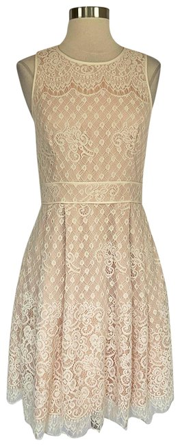 Item - Ivory Women's Lace Fit and Flare Cocktail Dress Size 6 (S)