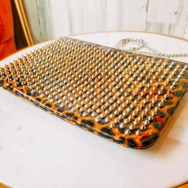 Item - Clutch Studded Brown Leather Cross Body Bag