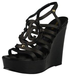 Just Cavalli Black Wedges