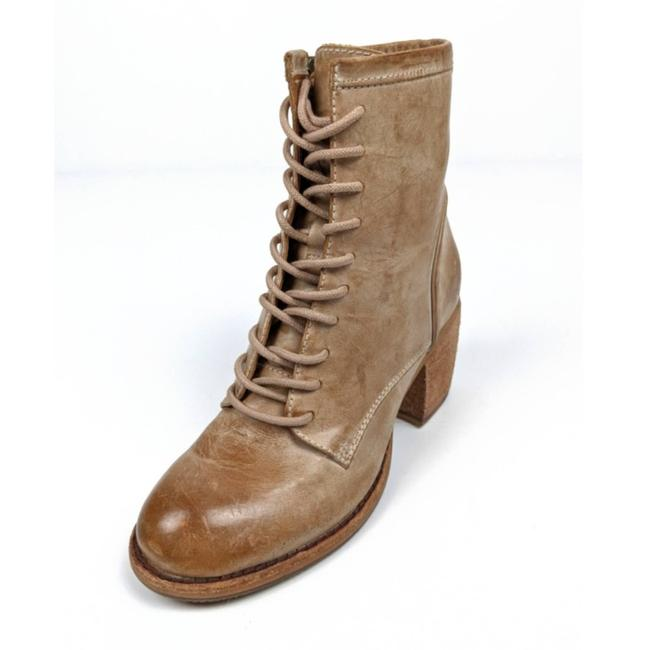 Item - Tan Sicily Ivory Leather Lace-up Boots/Booties Size US 6 Regular (M, B)