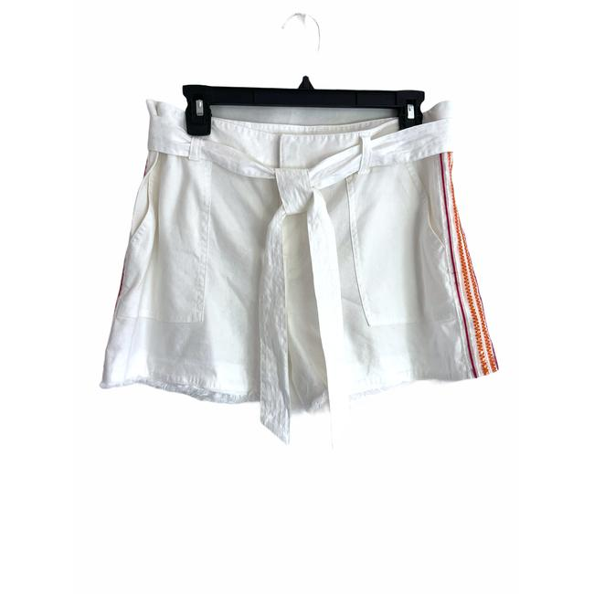 Item - White New Linen with Beading Shorts Size 8 (M, 29, 30)