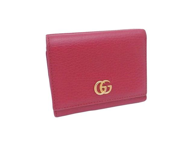 Item - Red Color Marmont Tri-fold Gg Leather Ladies 47476 Wallet