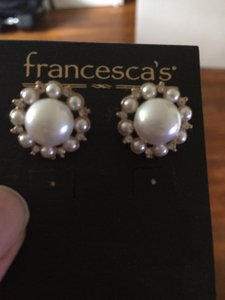 Francesca's Brand New Faux Pearl Earrings