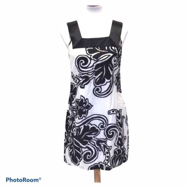 Item - and Floral Print Sleeveless Mid-length Work/Office Dress Size 2 (XS)