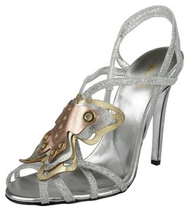 Just Cavalli Silver Pumps