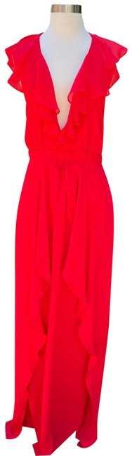 Item - Red Tjd Sintra Maxi In Crimson Long Formal Dress Size 4 (S)