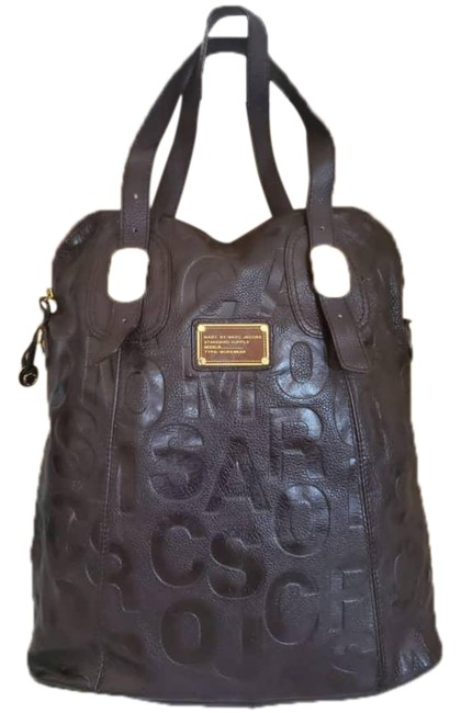 Item - Large Brown Leather Tote