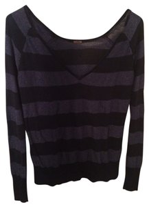 Free People Striped Metallic Sweater