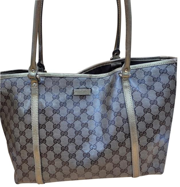 Item - Gg Monogram Brown & Gold Coated Canvas Tote