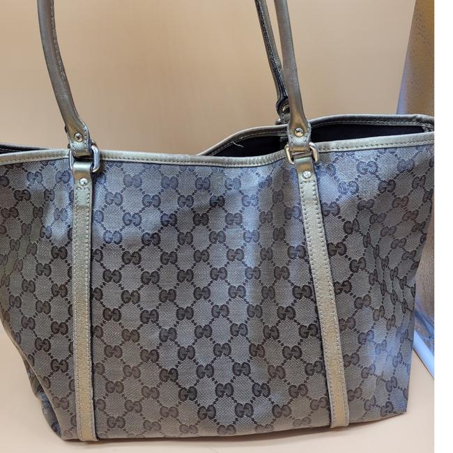 Gucci Gg Monogram Brown & Gold Coated Canvas Tote Gucci Gg Monogram Brown & Gold Coated Canvas Tote Image 2