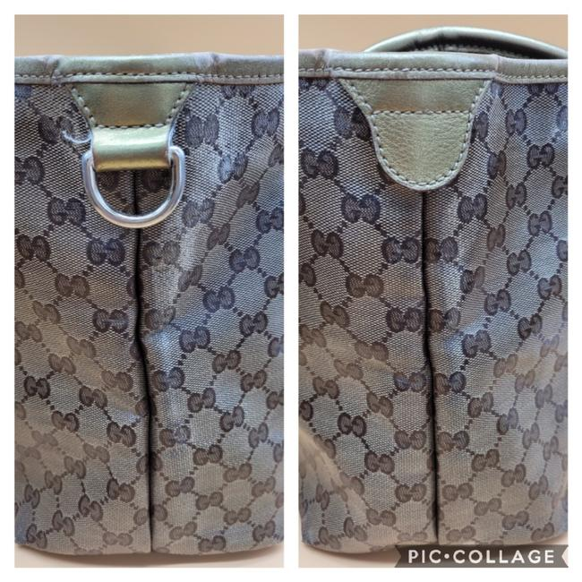 Gucci Gg Monogram Brown & Gold Coated Canvas Tote Gucci Gg Monogram Brown & Gold Coated Canvas Tote Image 4