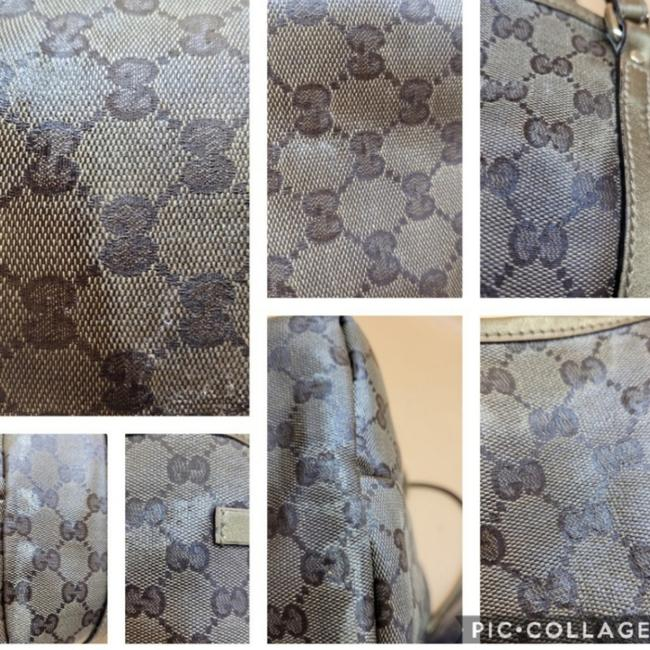 Gucci Gg Monogram Brown & Gold Coated Canvas Tote Gucci Gg Monogram Brown & Gold Coated Canvas Tote Image 6