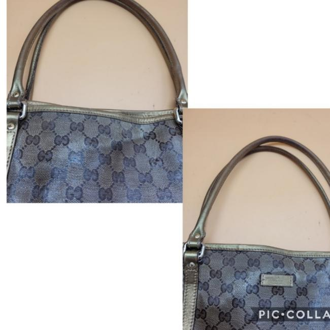 Gucci Gg Monogram Brown & Gold Coated Canvas Tote Gucci Gg Monogram Brown & Gold Coated Canvas Tote Image 7