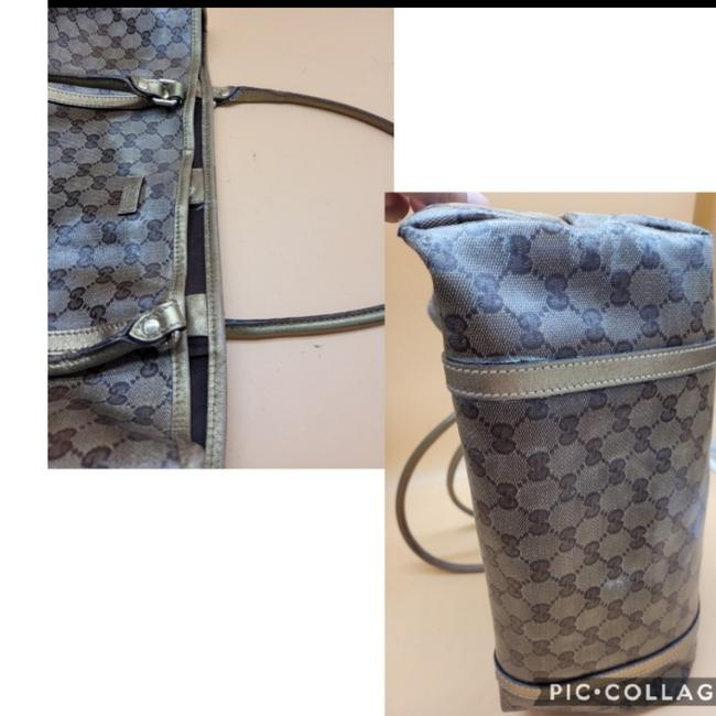 Gucci Gg Monogram Brown & Gold Coated Canvas Tote Gucci Gg Monogram Brown & Gold Coated Canvas Tote Image 9