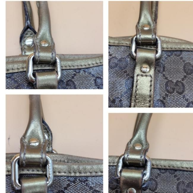 Gucci Gg Monogram Brown & Gold Coated Canvas Tote Gucci Gg Monogram Brown & Gold Coated Canvas Tote Image 10