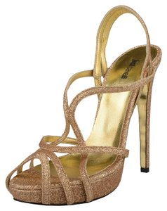 Just Cavalli Gold Mules
