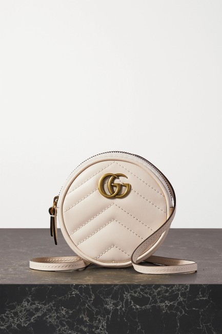 Item - Shoulder Marmont Gg Quilted White Leather Cross Body Bag